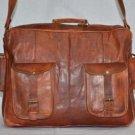 Indian Handmade Vintage Messenger Bag Shoulder Bag Laptop Protection Briefcase