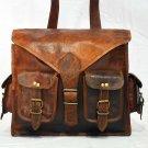 Real Leather Vintage Messenger Handmade Rucksack Backpack Briefcase Brown Bag