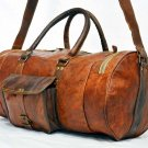 Real Goat Leather Handmade Travel Overnight Vintage Weekend Bag Duffle Gym Bag