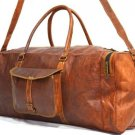 Real Leather Luggage Travel Bag Weekend Overnight Duffle Gym Handmade Brown Bag