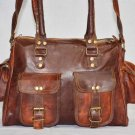 Handmade Vintage Leather Shoulder Bag Messenger Brown Ladies Purse Satchel