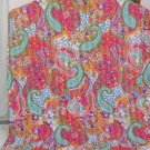 Handmade Indian Pink Paisley Cotton Kantha Quilt Reversible Queen Size Throw