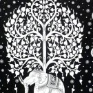 Elephant Tree Hippie Tapestry Cotton Wall Hanging Mandala Bohemian Bedspread
