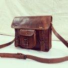 Real Vintage Leather Unisex Messenger Bag Laptop Bag Satchel Briefcase Sling