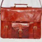 Real Genuine Leather Vintage Messenger Cross Body Satchel Laptop Bag Briefcase