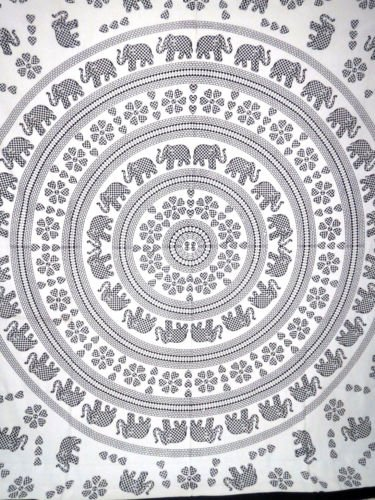 Mandala Hippie Elephant Tapestry Bohemian Wall Hanging Wall Art Tapestry Throw