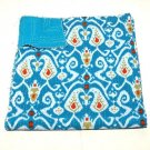 Turquoise Ikat kantha Quilt Queen Size Indian Handmade Reversible Bedspread