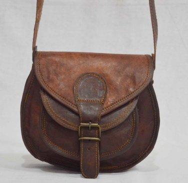 Indian Real Leather Vintage Messenger Cross Body Bag Shoulder Bag Brown Tote Bag