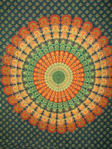 Mandala Indian Bohemian Cotton Tapestry Wall hanging Dorm Decor Wall Art Throw