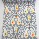 Indian Handmade Queen Size Grey Kantha Quilt Cotton Reversible Bedcover Throw