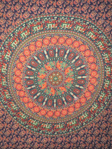 Mandala Tapestry Cotton Throw Bedcover Hippie Wall Hanging Boho Bedding Wall Art