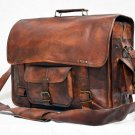 Real Leather Messenger Genuine Natural Handmade Satchel Bag Briefcase Sling