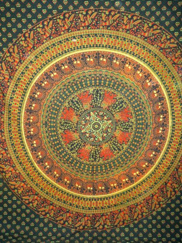 Mandala Cotton Hippie Tapestry Wall hanging Bohemian Wall Art Throw Bedcover