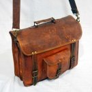 Real Leather Handmade Messenger Vintage CrossBody Shoulder Satchel Briefcase Bag