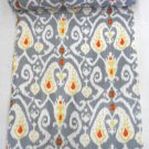 Indian Handmade Twin Size Grey Kantha Quilt Cotton Reversible Bedcover Throw
