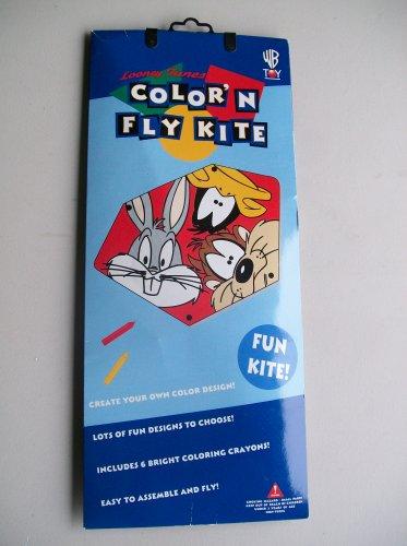 Vintage Looney Tunes Color N Fly Kite With Taz Bugs & Daffy Warner Bros