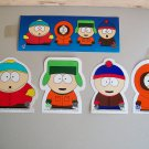 South Park Stickers Decals Lot Of 5 Cartman Kenny Stan Kyle Comedy Central 1997
