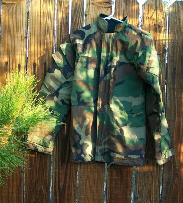 Camouflage Camo Jacket Chemical Protective Survival Small Military Survivalist