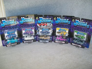 Muscle Machines Lot Of 5 Includes Cuda Ford Pickup GTO Mercury