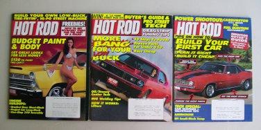 Vintage Hot Rod Magazine Lot Budget Body & Paint Engine Buildups Dragstrip Tune Ups MIG Welding
