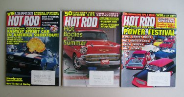 Hot Rod Magazine Vintage Lot Fastest Street Car Shootout Harley