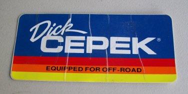 Dick Cepek Vintage Decal #3 Sticker Off Road 4x4 Truck