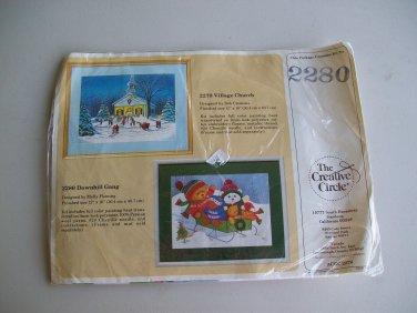 Embroidery Kit Downhill Gang Winter Sled Bears Creative Circle 2280