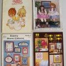 Cross Stitch Pattern Book Lot Precious Moments Country Crafts Goose Lemon Drops Lollipops Vintage