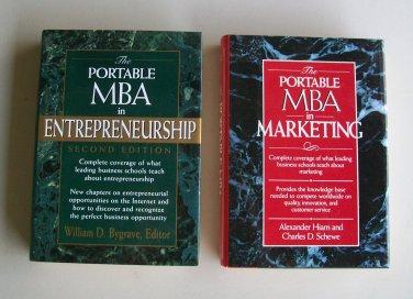 Portable MBA Business Book Lot B21 MBA In Marketing MBA In Entrepreneurship