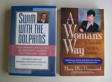 Business Motivation Book Lot B32 Swim With Dolphins Woman�s Way Management Leadership