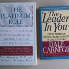 Business Leadership Book Lot B33 Leader In You Platinum Rule Success Management