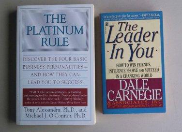 Business Leadership Book Lot B33 Leader In You Platinum Rule Success Management