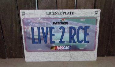Nascar Daytona LIVE 2 RCE License Plate New Racing Blue Race Cars Speedway