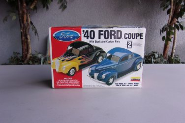 40 Ford Coupe Model Kit Lindberg Stock And Custom 1/25 Vintage Hot Rod