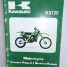 Kawasaki KX125 Original Owners Manual 1979 KX 125 79 Vintage Service Book