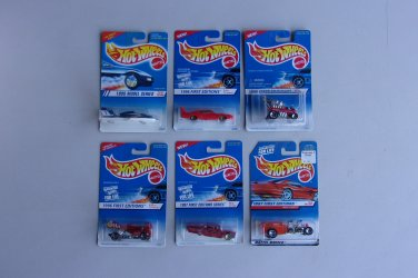 Hot Wheels 1995 1996 1997 Series VintageLot Of 6 First Editions Radio Flyer Wagon Hot Rod Plane
