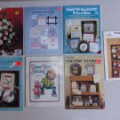 Cross Stitch Lot Patterns Books Leaflets Christmas Country Kitchen Covers Ducks Booklets