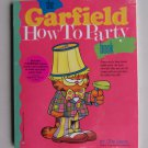 Garfield How To Party Book Kit Vintage Visors Banner Confetti Birthday Celebration