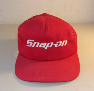Snap On Tools Mesh Hat Red Adjustable Snapback Vintage Cap