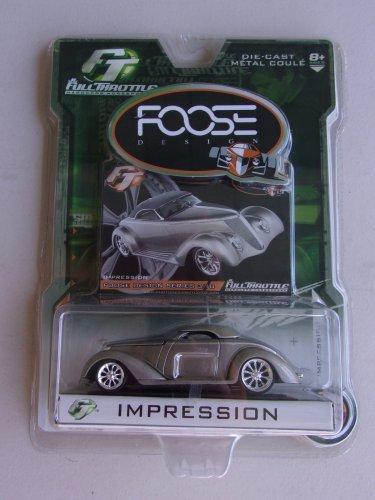 Foose Impression Full Throttle Diecast Car Foose Design Series Hardcore Horsepower Silver Gray