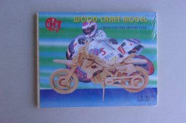 Cross Country Motorcycle Wood Model Kit CX 501 Bike