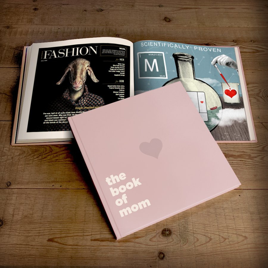 The Book of Mom personalized gift book hardback edition