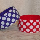 Plastic Polka dot Bangle Bracelets Red and Blue