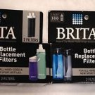 Lot of 2 Brita Hard Sided Water Bottle Replacement Filters 2 Per Box/New