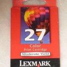 GENUINE NEW Lexmark #27 Color Ink Cartridge