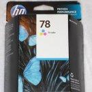 New Genuine HP 78 tri-color Ink Cartridge C6578DN April 2015
