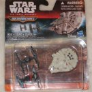 Micro Machines Star Wars Force Awakens Millennium Falcon, Two Tie Fighter Set