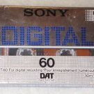 DAT SONY DT-60R Digital Audio Tape 60min High Performance - New  SEALED