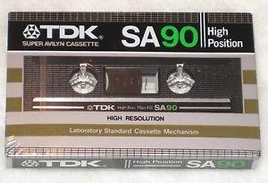 TDK SA 90 Cassette Tape High Position Type 2 New Sealed