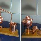 Helmet Distillery 1.5 liters with sieve *Alambicco * Alembic * Still * Moonshine